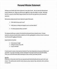 How Do You Write A Personal Mission Statement Free 54 Statement Examples In Pdf Examples