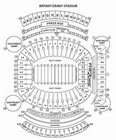 Bryant Denny Stadium Seating Chart With Seat Numbers Bryant Denny Stadium Seating Chart