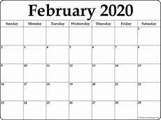 Write On Calendar 2020 February 2020 Calendar Free Printable Monthly Calendars