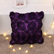 Sofa Pillows Solid 3d Image by Wendana 3d Solid Color Satin Flower Square Pillow