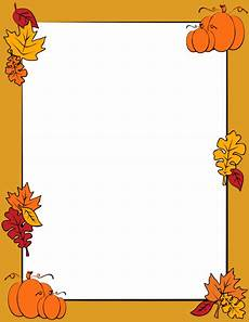 Free Fall Borders For Word Autumn Border Clip Art Page Border And Vector Graphics
