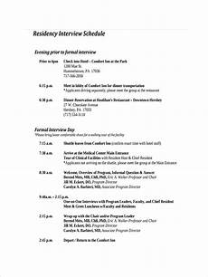 Examples Of An Itinerary Free 17 Interview Schedule Examples Amp Samples In Pdf