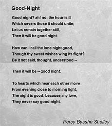 Good Night Poem By Percy Bysshe Shelley Poem Hunter