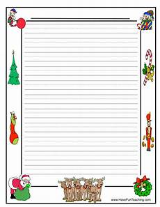 Christmas Themed Writing Paper Christmas Writing Paper Have Fun Teaching