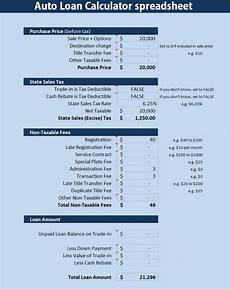Daily Interest Calculator Spreadsheet Auto Loan Calculator Spreadsheet Excel Analysis Template
