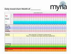 Mood Behavior Chart Daily Mood Chart To Print Myria