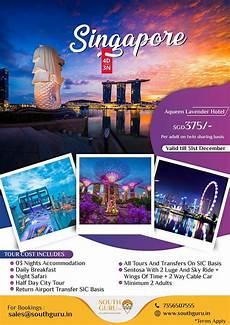 Brochure Design And Printing Singapore Tour Travel Poster Design Tour Poster Design Travel