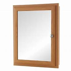 bathroom medicine cabinet fog free mirror oak wood framed