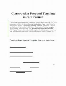 Free Construction Proposal Template Pdf Construction Proposal Template In Pdf Format Free Download
