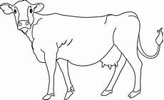 Outline Of Cow Cow Coloring Page Free Clip Art