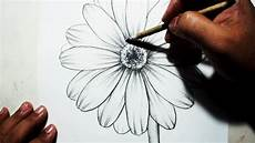 Drawings Of A Flower How To Draw A Flower Easy Pencil Drawing Youtube