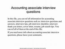 Interview Questions Accounting Accounting Associate Interview Questions