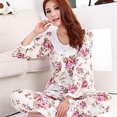 sleeve pajamas for new 2016 fashion style cotton sleepwear floral
