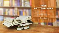 Free Books Template Opened Book Powerpoint Templates