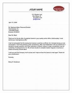 How To Reject Job Offer Formal Rejection Letter To Decline Job Offer Sample