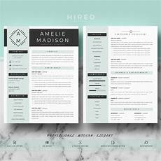 Modern Picture Resume Professional Amp Modern Resume Template For Ms Word Quot Amelie