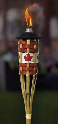 Tiki Lights Canada A Tiki Torch Branded With The Canadian Flag Perfect For