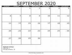 Calendar 2020 September Printable 2020 Calendar Style 3 Free Printable Calendars