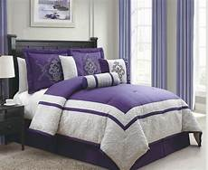 11 cal king dacia purple and gray bed in a bag set