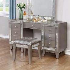 Bedroom Vanity Furniture Leighton Vanity Desk W Stool By Coaster Furniture 1