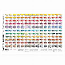 Daniel Smith Watercolor Color Chart Daniel Smith Watercolor Printed Color Chart Jackson S