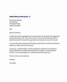 Thank You Letter For Application Free 10 Sample Thank You Follow Up Letters In Pdf Ms
