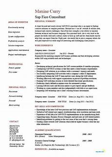Sap Consultant Resume Sap Fico Consultant Resume Technology Functionality It