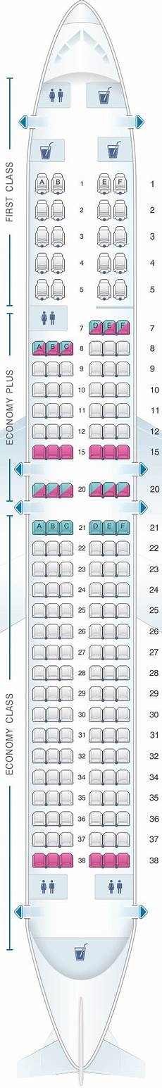 United Airlines Boeing 737 Seating Chart Mapa De Asientos United Airlines Boeing B737 900 Version