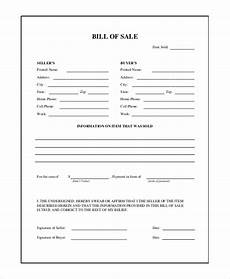 Sale As Is Form For Car Free 9 Sample General Bill Of Sale Forms In Pdf Word