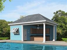 pool house plans pool house with kitchen 062p 0005 at