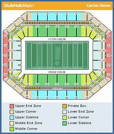 Seating Chart Carrier Dome Football Syracuse Football Carrier Dome Espn