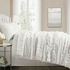 chic ruffles white comforter set country