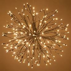 Twinklers Lights Silver Starburst Lighted Branches With Warm White Led