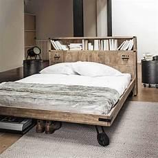 contenitori da letto testata da letto con contenitori in massello di mango l