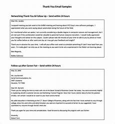 Thank You Letter After Job Fair 9 Follow Up Email After Interview Sample Templates