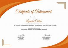 Achievement Certificates Template Free Certificate Of Achievement Template In Psd Ms Word