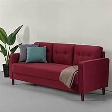 zinus mid century upholstered 76 4in sofa livingroom