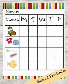 Toddler Chore Chart Items Similar To Toddler Chore Chart Printable On Etsy