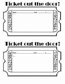 Ticket Out The Door Printable Ticket Out The Door Template By Third World Teachers Pay
