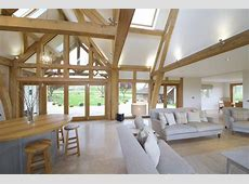 Oak framed kitchen, dining and garden room extension to Georgian farmhouse   Leaf Architecture