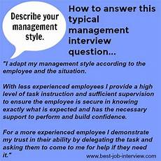 Describe Your Leadership Style Typical Management Interview Questions