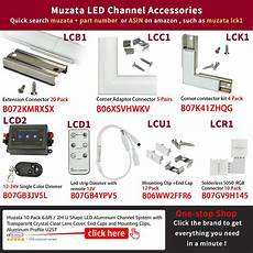 Led Channels And Diffusers For Tape Lighting Muzata Led Channel System With White Cover Lens