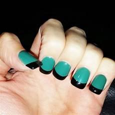 Black And Teal Nail Designs 23 Black Tip Nail Art Designs Ideas Design Trends