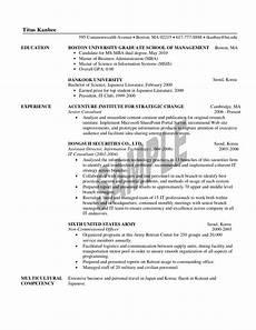 Mba Resume Example 1st Year Mba Resume Sample