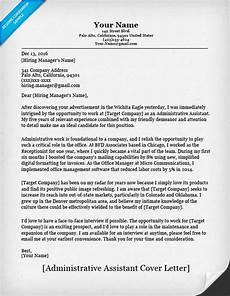Resume Cover Letter Sample For Administrative Assistant Job Administrative Assistant Cover Letter Sample Resume