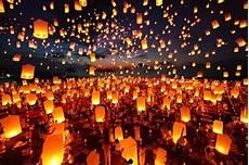 Lanterns And Lights At Chiang Mai Road Yi Peng Festival Or The Lantern Festival Chiang Mai