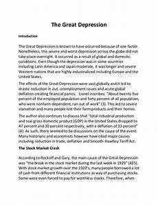 Causes Of The Great Depression Essay The Great Depression