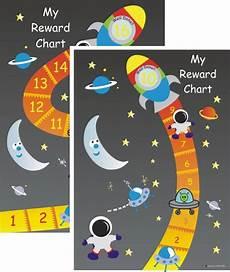 Rocket Ship Reward Chart Rocket Reward Chart Kids Pinterest
