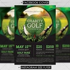Golf Outing Flyers Golf Tournament Premium A5 Flyer Template
