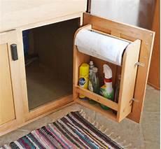 kitchen cabinet door organizer paper towel holder white